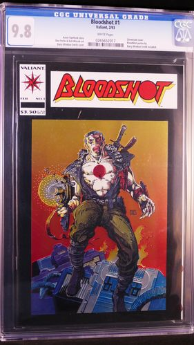 Bloodshot # 1, CGC 9.8, white pages
