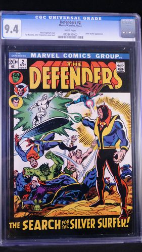 Defenders # 2, CGC 9.4, white pages