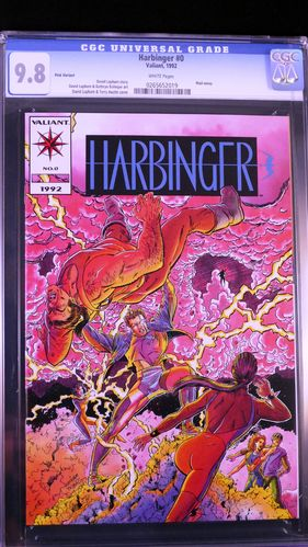 Harbinger # 0, CGC 9.8. white pages