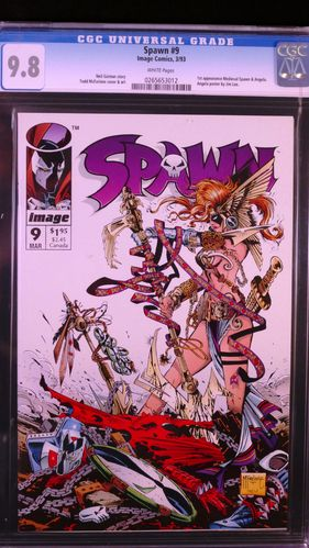 Spawn # 9, CGC 9.8, white pages