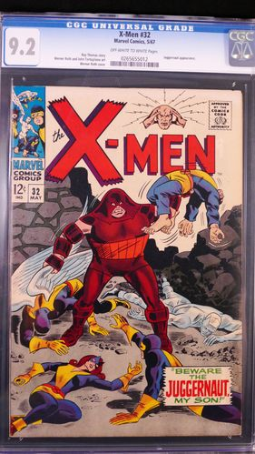 X-Men # 32, CGC 9.2, off-white to white pages