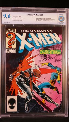 Uncanny X-Men # 201, CBCS certified grade 9.6, white