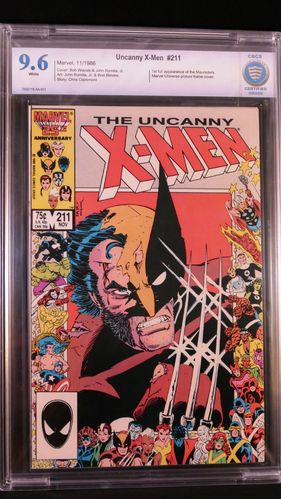 Uncanny X-Men # 211, CBCS certified grade 9.6, white